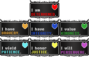 Undertale || Human Soul Stamps Collection || F2U by The-NoiseMaker