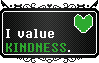 Undertale    Human Soul Stamp KINDNESS    F2U by The-NoiseMaker