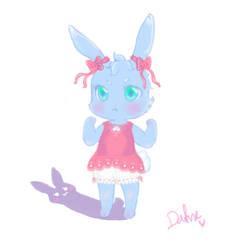 Blue Bunny by Dafururu