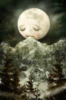 The Peckish Moon by meluseena