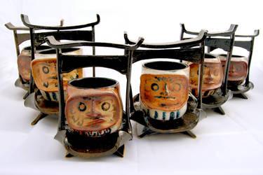 Daruma Tea Set by heisaspy
