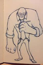 The big man by budamonsta