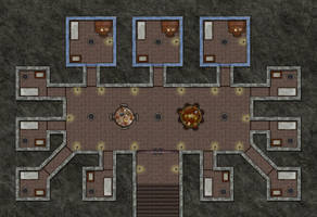 Prison Cellbock With Warded Cells (no Grid) by jcarlhenderson