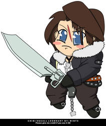 Chibi Squall Leonhart Vector by mint9