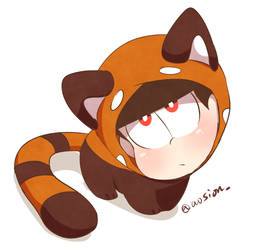 Red panda oso by sionmatsu