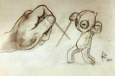 Fencing Voodoo Sketch by AlbertoArni
