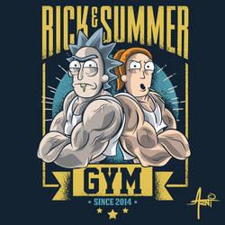 Rick and Summer Gym by AlbertoArni