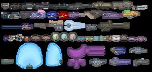 Halo Weapons Sprites by purplejub1993DJC