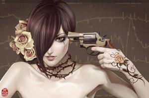 Gun Tote-Artist-Zhang Xiaobai by simoleons007