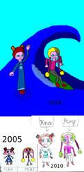 Pina i Pery evolution by Pluszaczek