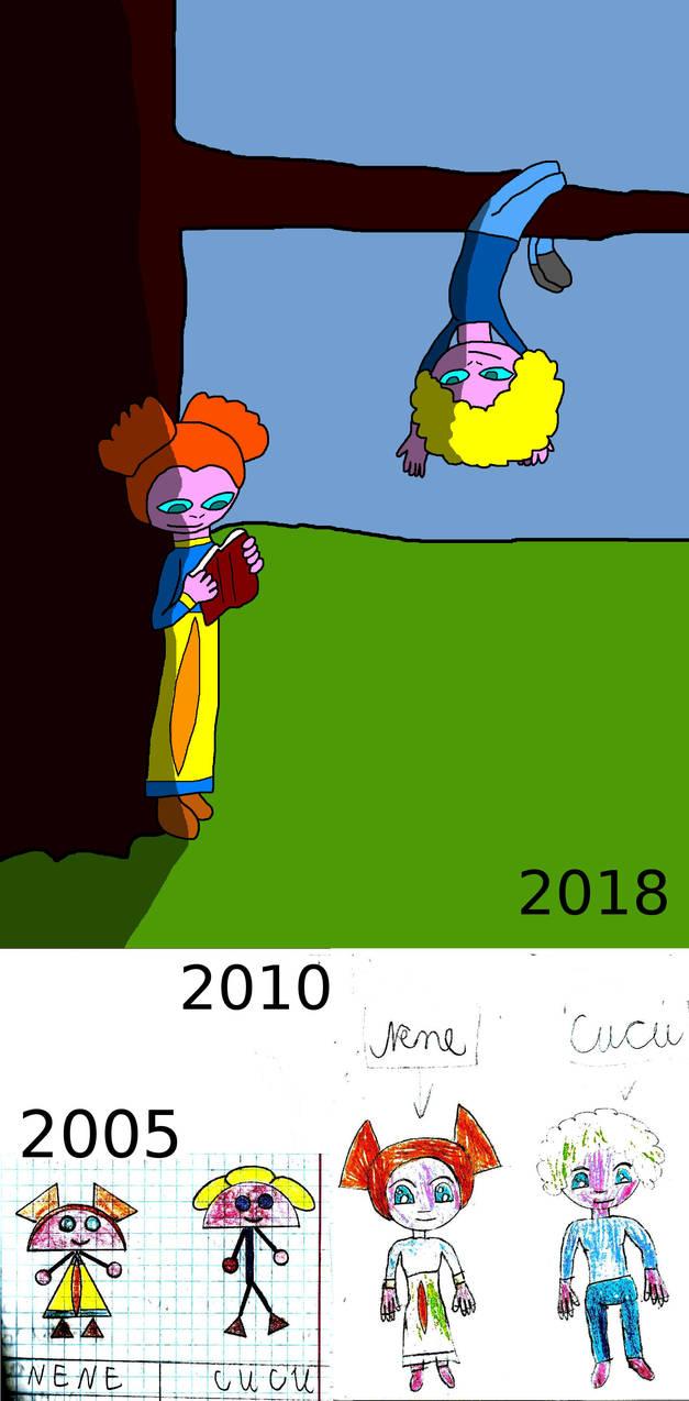 Nene and Cucu evolution by Pluszaczek