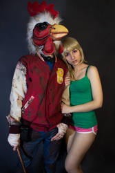 Hotline Miami cosplay by Andivicosplay