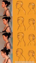 Faces practice II by Laollga