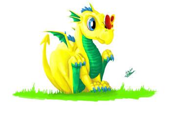 Babydragon Yellow by poisonmilow