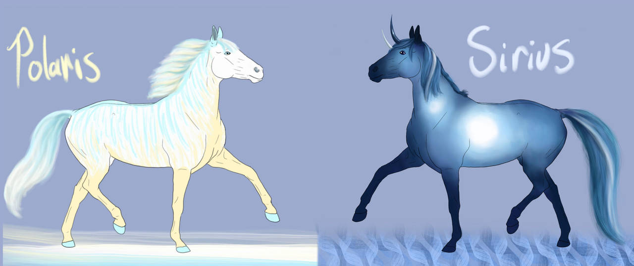 Polaris and Sirius-- horse adopts by luna212
