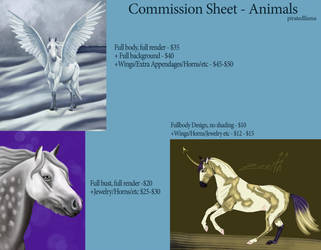 Commission sheet - Animals by luna212