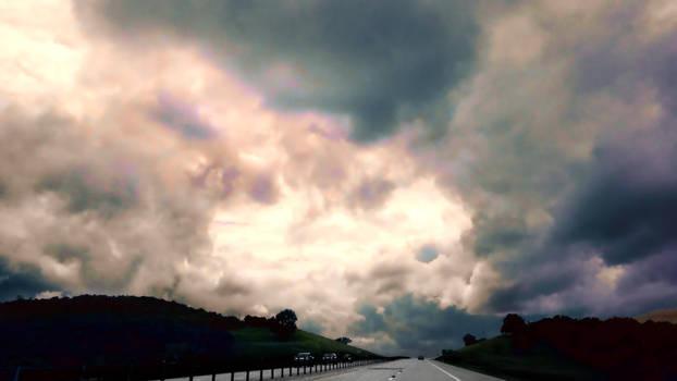 Rainy Road South 9/3/18 by KeithPurtell