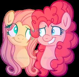 Day 11 Pinkie Pie X Fluttershy by KimmyArtMLP