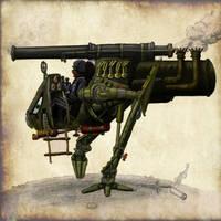 One Man Blitzkrieg Walker by plushman