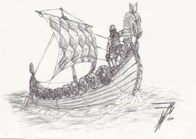 Viking Saga Longboat by plushman