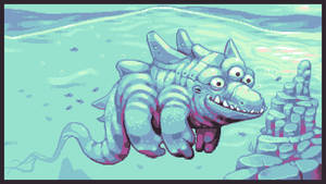 Vicious Giant Sea Monster! by Nothingbutzack