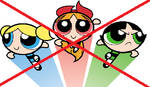 Anti-Powerpuff Girls 1998 stamp. by Corbett-Collins