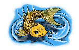 Coi - Carp Tattoo flash by spunkymonkey