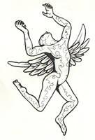 tattooed angel by spunkymonkey