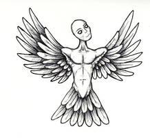 winged man by spunkymonkey