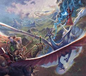 Metallic Dragons:Aerial Combat by RalphHorsley