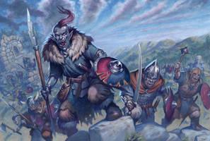Oathmark: Goblin Infantry by RalphHorsley