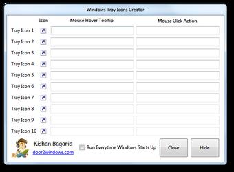 Windows Tray Icons Creator by Kishan-Bagaria
