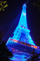 Blue Eiffel Tower by AlanSmithers