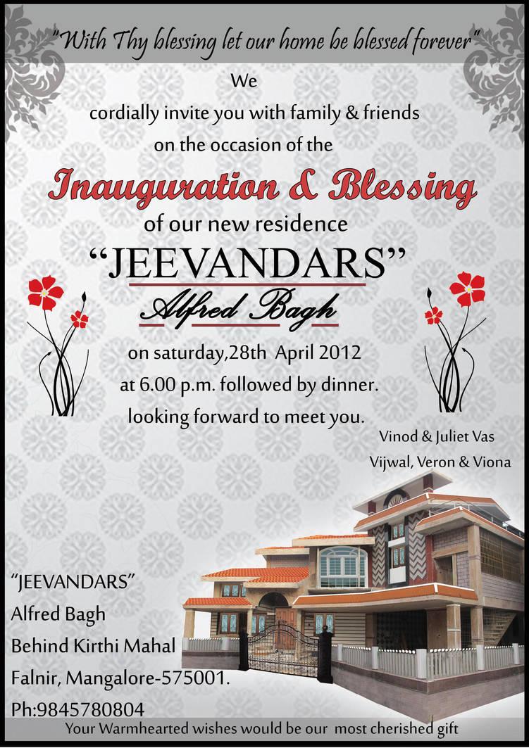 Housewarming Invitation Cards By Sahas Hegde On Deviantart