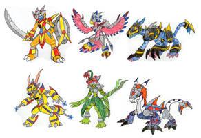 Digidestined Armor Digimon by MegaloRex