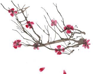 Watercolor 2: Cherry Blossoms by TenajOniNeko22