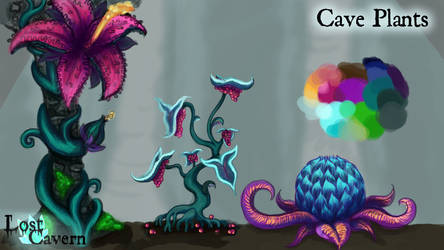 Cave plant concepts revised by Kalilak11