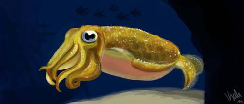 Squid Speedpaint by Kalilak11