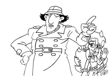 Inspector Gadget and Stephanie by MortenEng21