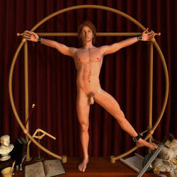 Der vitruvische Mann - The Vitruvian Man by Botchan-3D