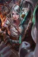 Ciri The witcher by MOIDUKDUM