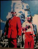 Daft Punk Stencil by knifepArty43