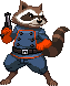 Rocket Raccoon by steamboy33
