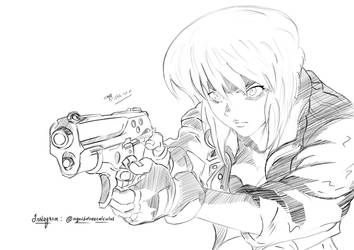 Ghost in the shell: Mokoto Kusunagi by CalculusArts1