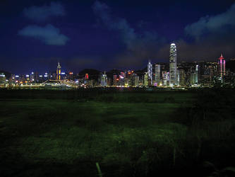 Hong Kong skyline again by paullung