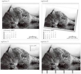 Cat drawing calendar 2007 by paullung