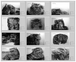cat drawing calendar final by paullung