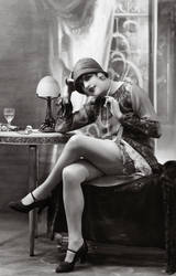 Vintage Stock - Flapper by Hello-Tuesday