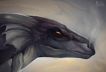 dragon by Keyanar-Red