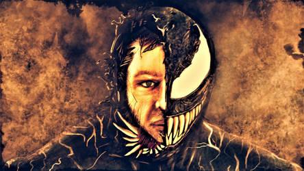 Tom Hardy Venom (Sepia Version) by SicSlipknotMaggot